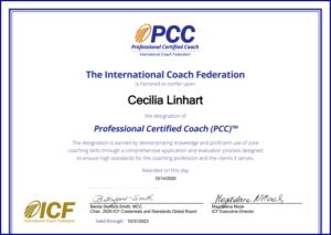 PCC Certificate for Cecilia Linhart